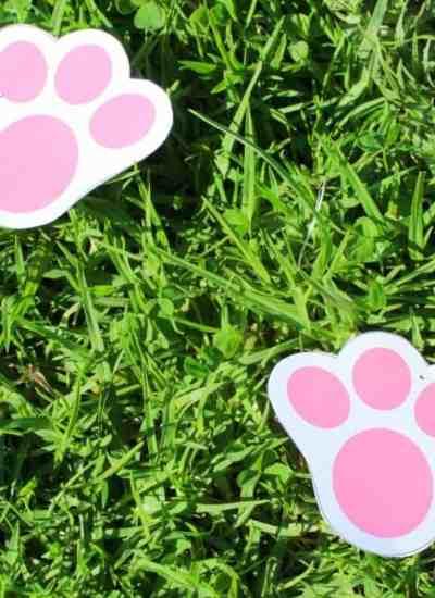 Free printable bunny footprints