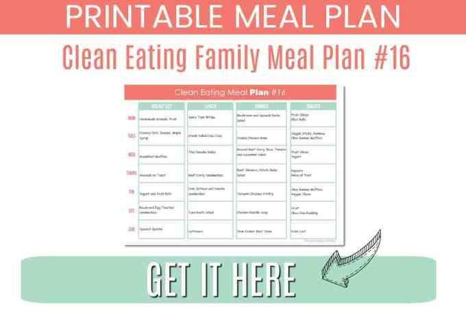 clean eating family meal plan #16