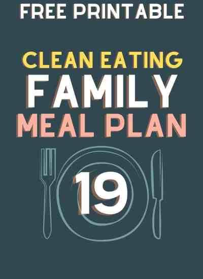 clean eating meal plan 19