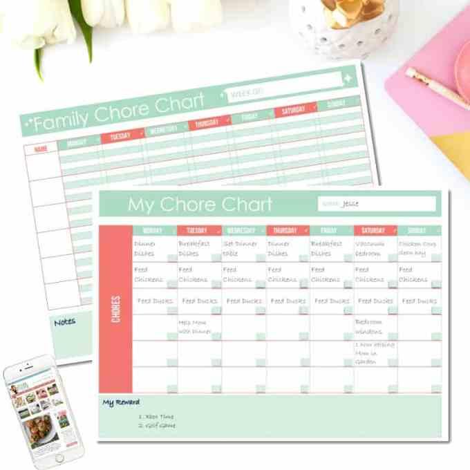 Free Printable Family Chore Chart