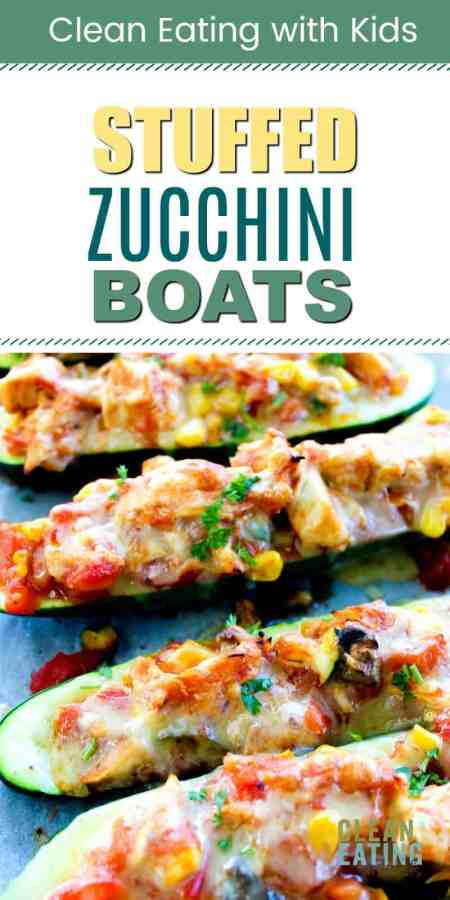 chicken stuffed zucchini 船s