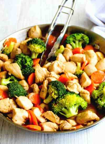 clean eating honey soy chicken stirfry