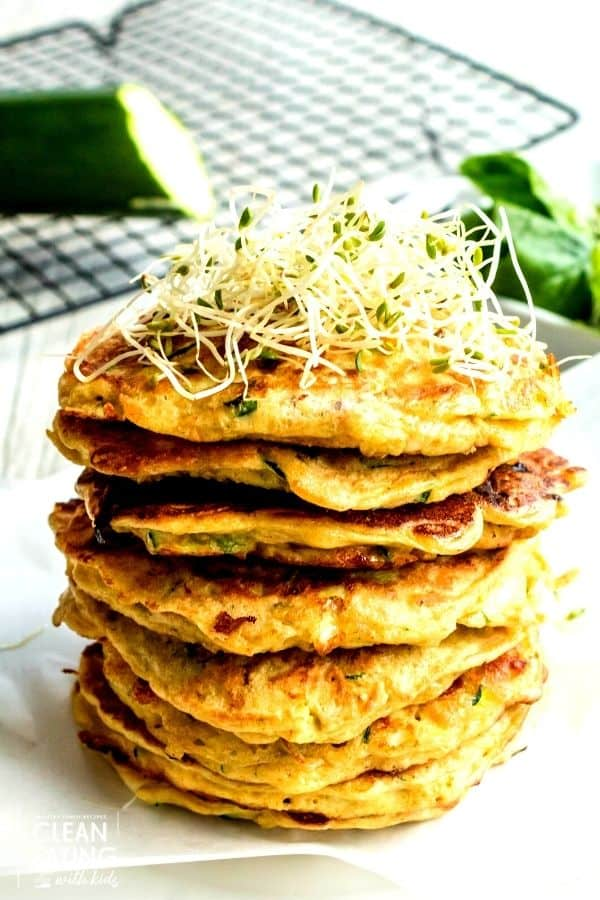 clean eating zucchini fritters - end result