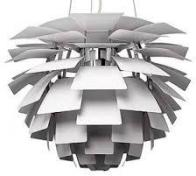 white PH Artichoke lamp