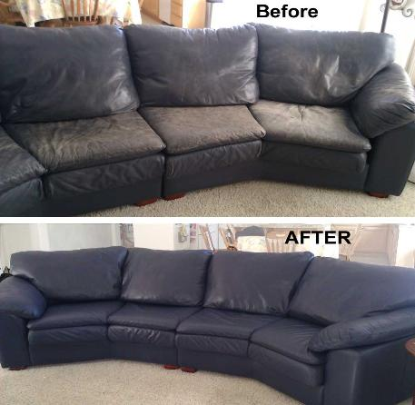 Leather Sofa Repair Color Restoration Dye Refinish Leather Sofa