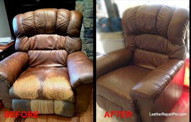 Leather Sofa Repair Color Restoration Dye Refinish Leather Sofa