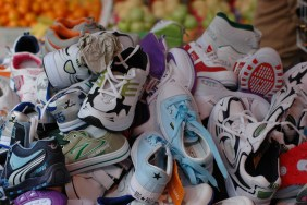pile-of-worn-out-sneakers