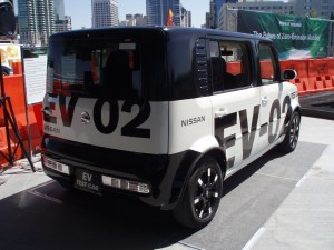 Test Driving the New Nissan EV
