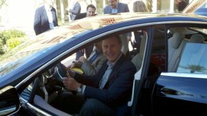 Tesla S Addison at Wheel
