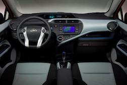 Prius c drivers seat