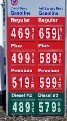 Gasoline 6 Dollars