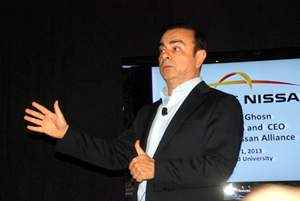 Nissan's Ghosn Bets On EVs Winning With Emotion