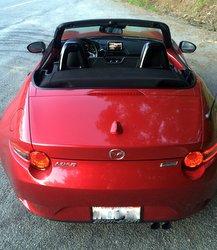 2016 Mazda,MX-5, Miata,storage space,trunk