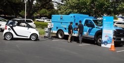 Electric Vehicle Day,plug-in truck,hybrid,PG&E