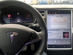 Tesla Model X, interior, capacative screen