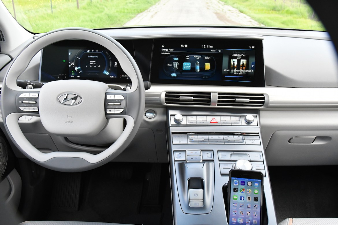 The 2019 Hyundai Nexo is a bespoke unicorn of a vehicle as it is only available in the United States at three Hyundai dealers in California