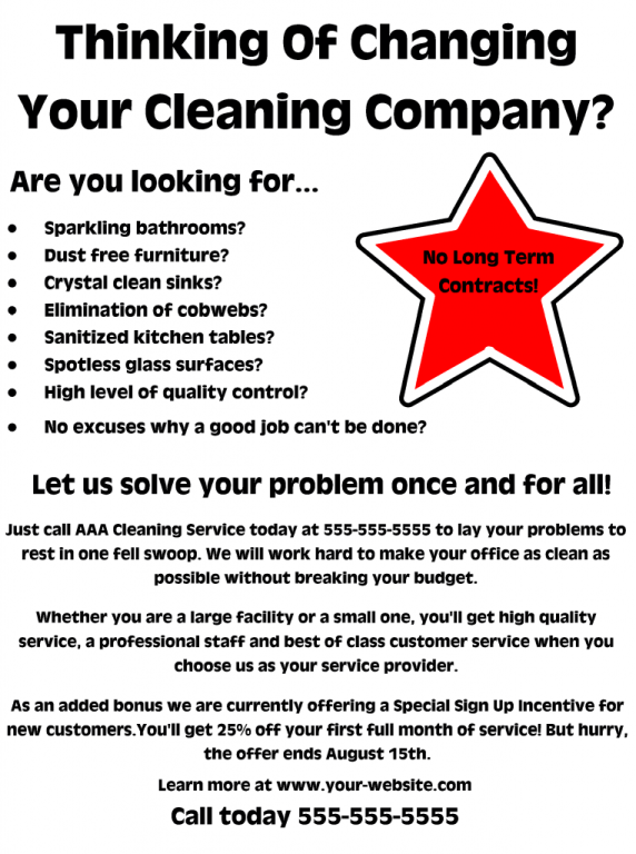office cleaning flyer