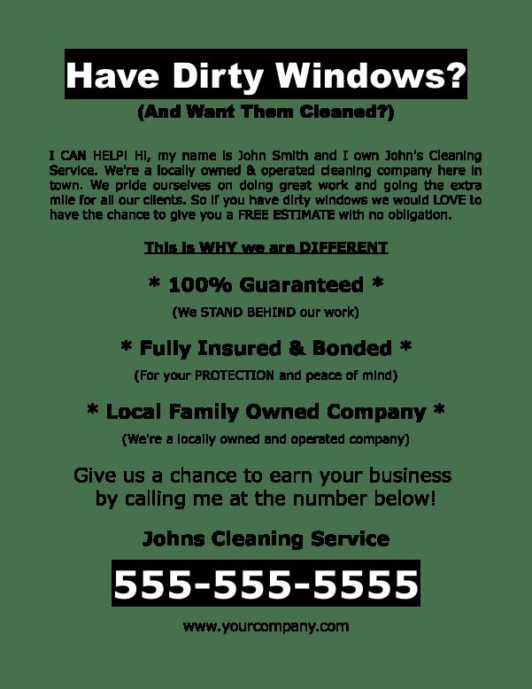 Free Download Window Washing Flyer