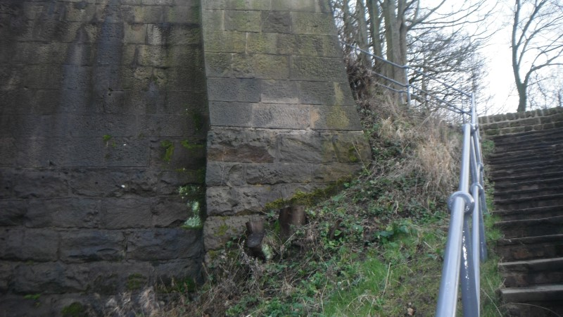 image of bridge after graffiti removal in merseyside