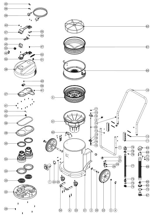 Numatic Floor Scrubber Parts Manual