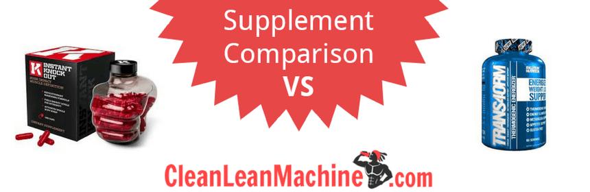 instant knockout vs trans4orm review, instant knockout vs trans4orm, compare fat burners, best fat burners