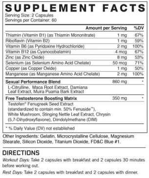 test x180 alpha ingredients
