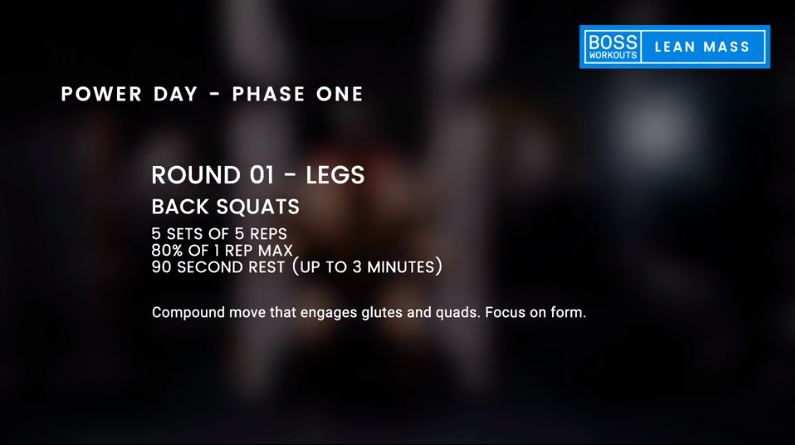 Boss Workouts boss lean mass review day-one