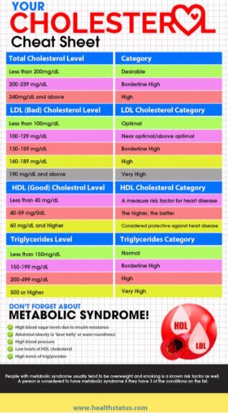 health status cholesterol