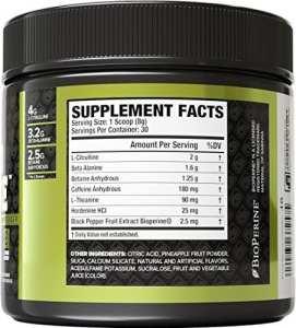 Nitrosurge Pre Workout Ingredients