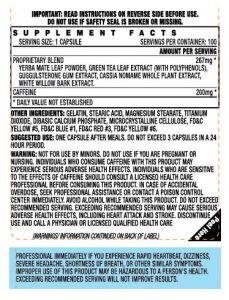 Stacker 2 Fat Burner Ingredients
