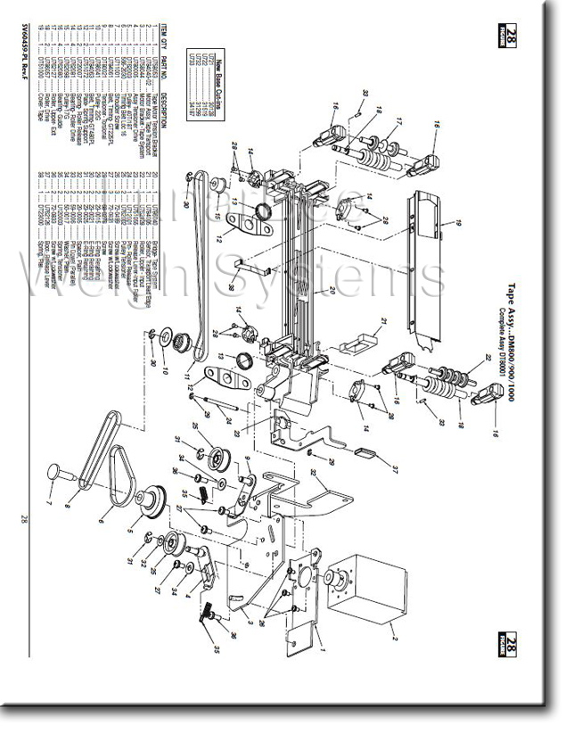 Pitney Bowes U700 DM800 DM900 DM1000 Series Complete