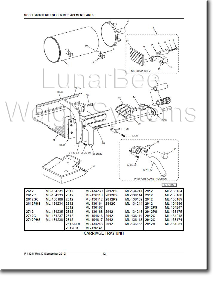 Hobart 2812 2912 Slicer User Instruction and Parts Manuals