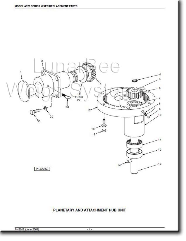 Hobart A120 Mixer Operators Instruction and Parts Manuals