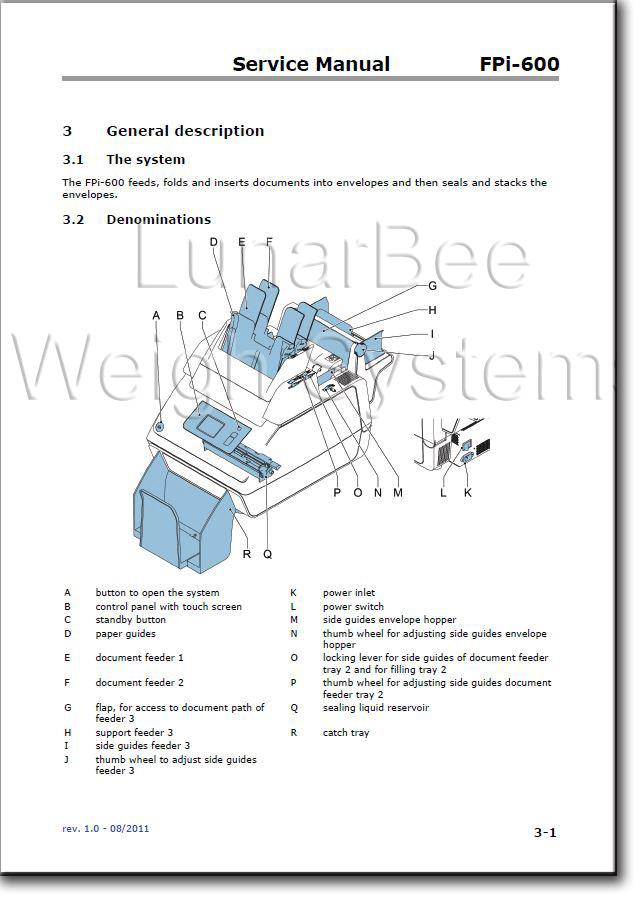 Service Repair Manual & Parts Book Franco Post FPi-600