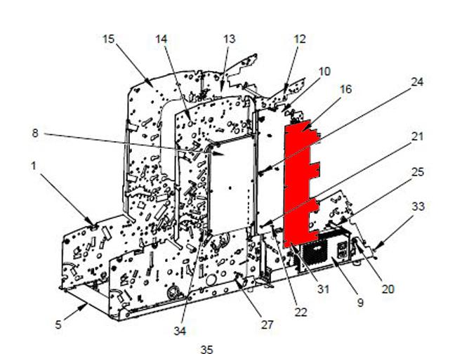 NX01265ABA PCB Left Hand Main Board Pitney Bowes DI500