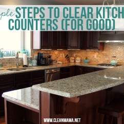 Kitchen Countertops Glass Table Set For 4 Simple Steps To Clear Counters Good Clean Mama