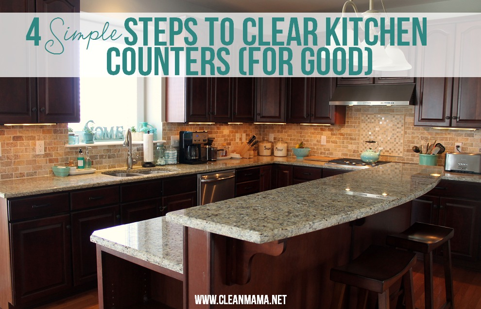 kitchen counters oak cabinets 4 simple steps to clear for good clean mama
