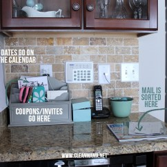 Kitchen Counter Organizer Rugs The Secret To Keeping Mail Off Counters Clean Mama Sort Right Away Via