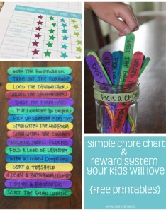 Simple chore chart and reward system your kids will love via clean mama also free printables rh cleanmama