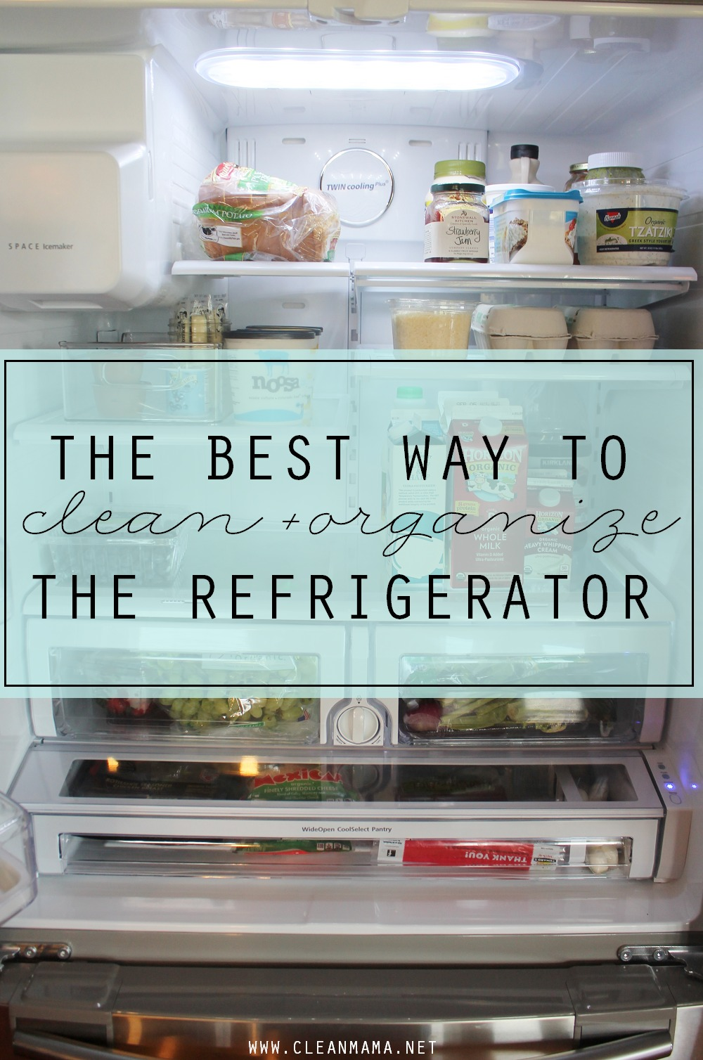 The Best Way to Clean  Organize the Refrigerator  Clean Mama