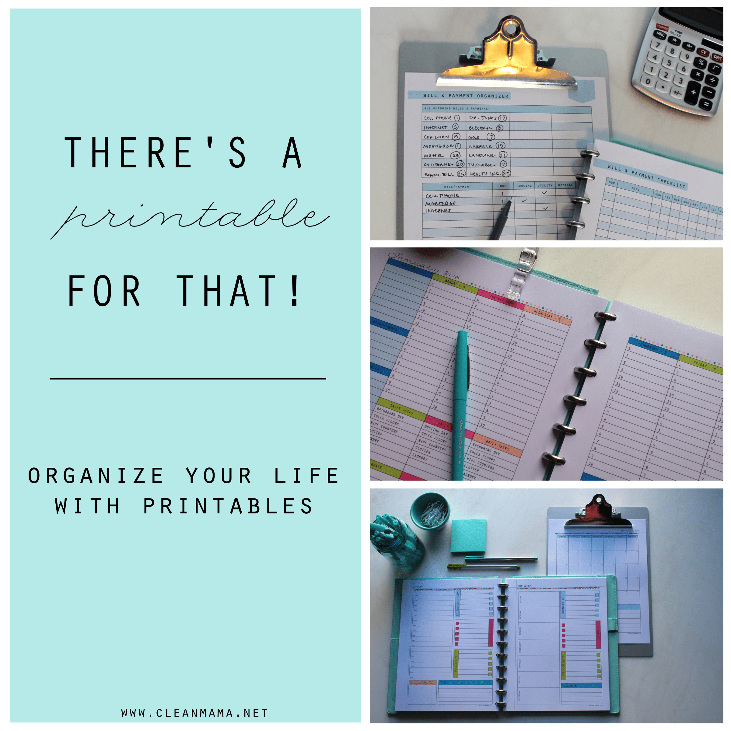 There S A Printable For That Organize Your Life With