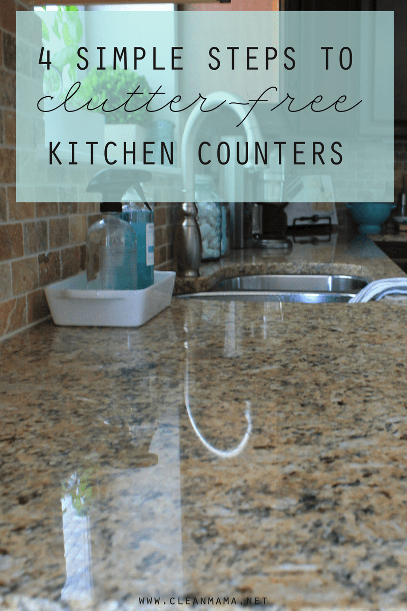 kitchen cabinet cleaner recipe double bowl sink 4 simple steps to clutter-free counters - clean mama