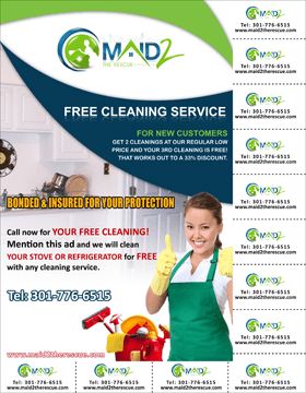 Cleaning Services Business Cards Templates Cleaning Services Maid ...