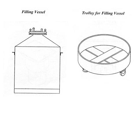 Pressure Vessel, Filling Vessel, Trolley For Pressure