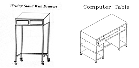 Visual Inspection Tables, Writing Stands With Drawers