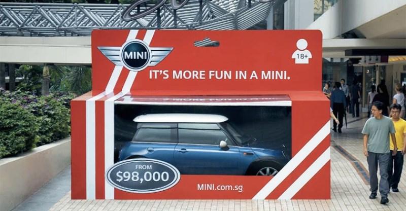 buitenreclame campagne Mini speelgoeddoos