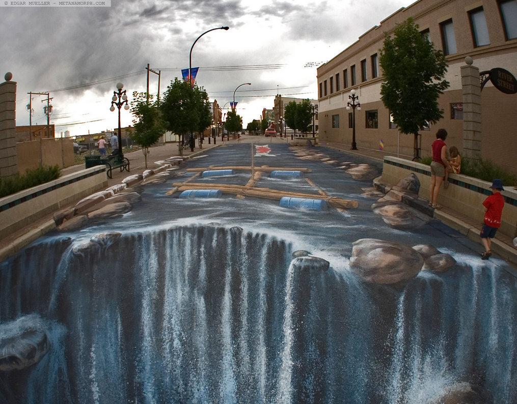 rivier met waterval