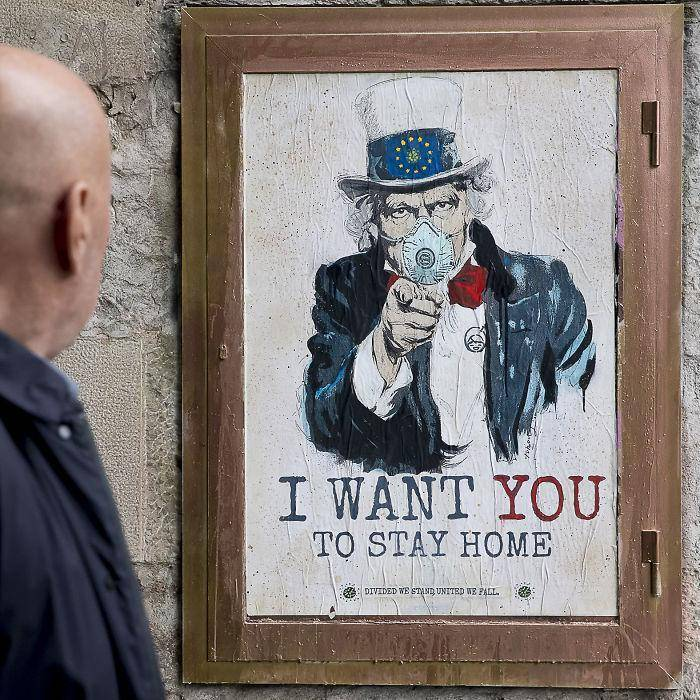 Advertentie: I want you to stay home!
