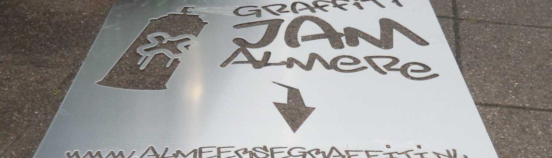 Plaatsing van graffiti jam promotie