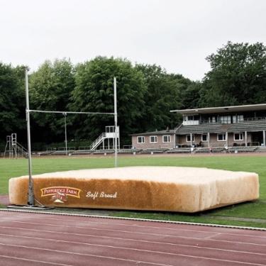 Zacht brood als landingskussen